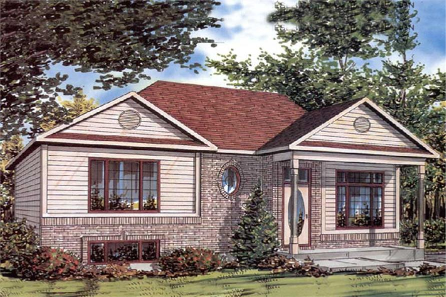 Front elevation of Ranch home (ThePlanCollection: House Plan #158-1239)