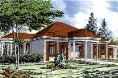 3-Bedroom, 2046 Sq Ft Ranch Home Plan - 158-1240 - Main Exterior