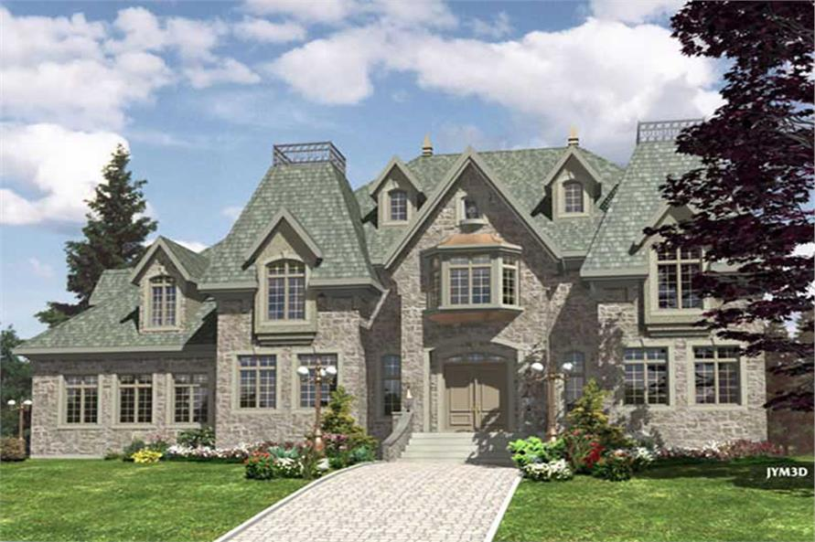 1-Bedroom, 3520 Sq Ft European Home Plan - 158-1241 - Main Exterior