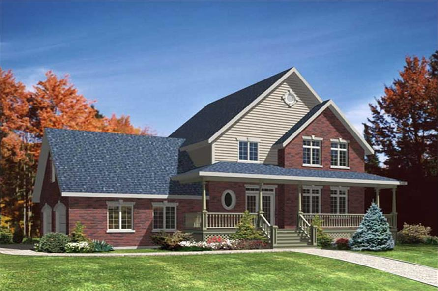 3-Bedroom, 1870 Sq Ft Country Home Plan - 158-1243 - Main Exterior
