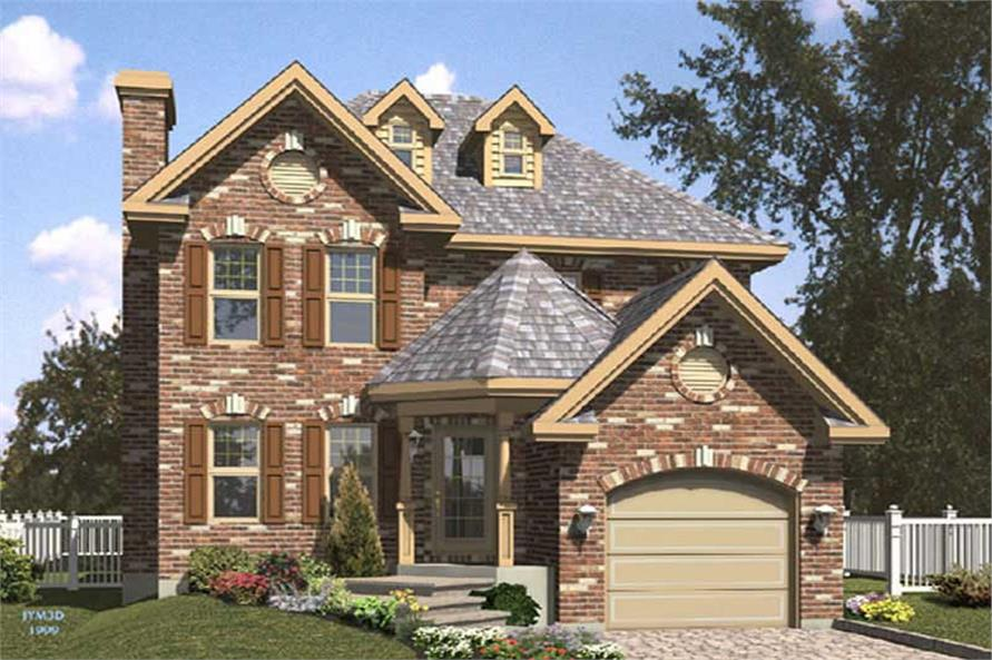 3-Bedroom, 1562 Sq Ft Contemporary Home Plan - 158-1244 - Main Exterior