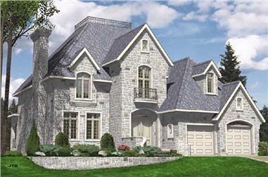 4-Bedroom, 3242 Sq Ft European Home Plan - 158-1246 - Main Exterior
