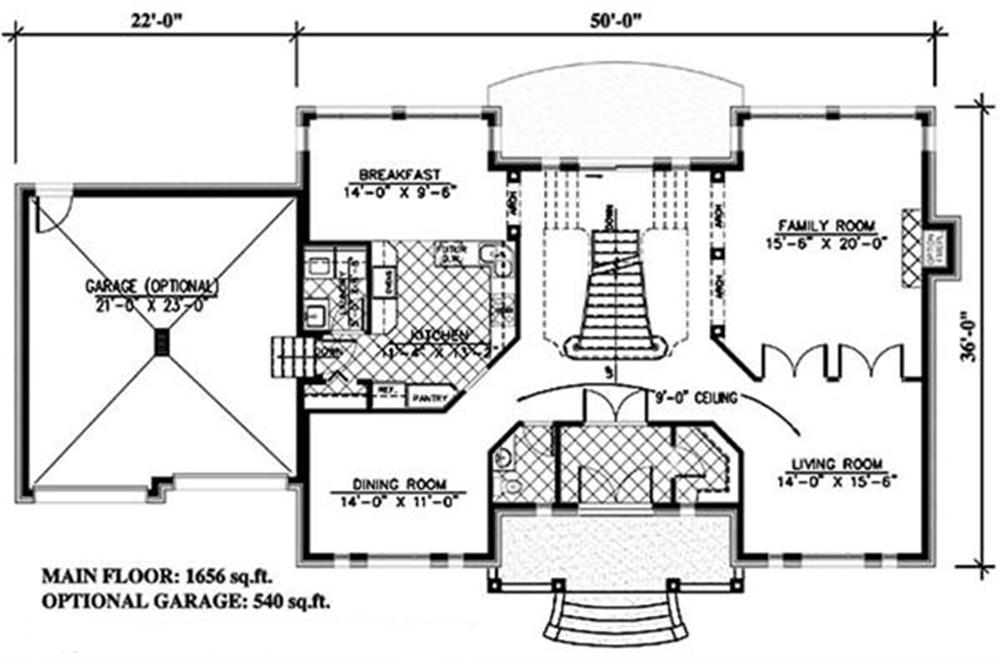 158-1247: Floor Plan Main Level