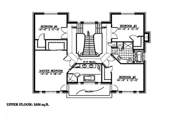 158-1247: Floor Plan Upper Level