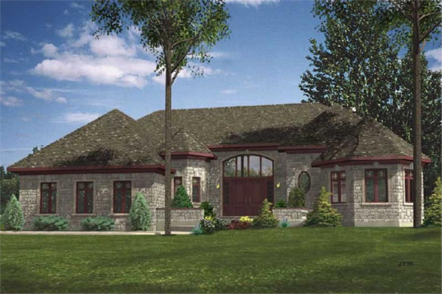 2-Bedroom, 1972 Sq Ft Ranch House Plan - 158-1248 - Front Exterior