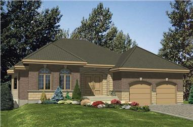 2-Bedroom, 1545 Sq Ft Bungalow House Plan - 158-1249 - Front Exterior