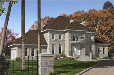 3-Bedroom, 2440 Sq Ft European House Plan - 158-1250 - Front Exterior