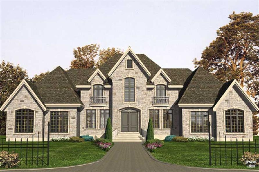 Front elevation of Contemporary home (ThePlanCollection: House Plan #158-1251)