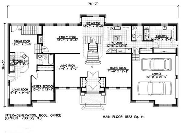 158-1251: Floor Plan Main Level