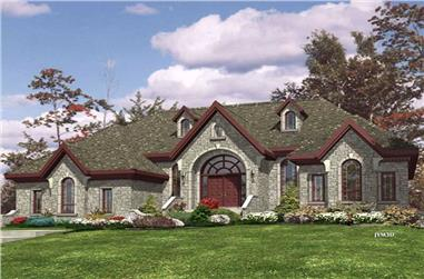 3-Bedroom, 2765 Sq Ft Ranch Home Plan - 158-1254 - Main Exterior