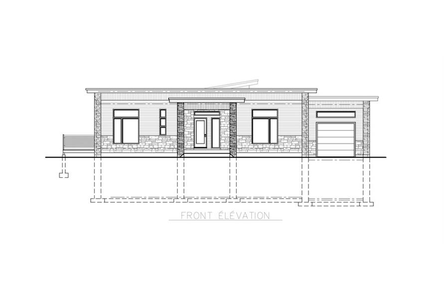 Home Plan Front Elevation of this 4-Bedroom,1744 Sq Ft Plan -158-1257