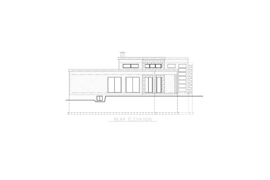 158-1258: Home Plan Rear Elevation