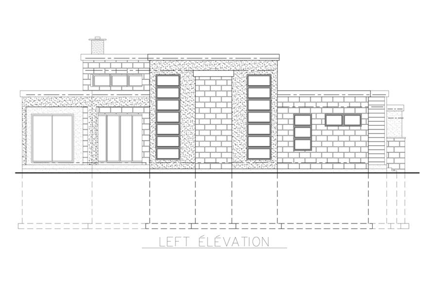 158-1258: Home Plan Left Elevation