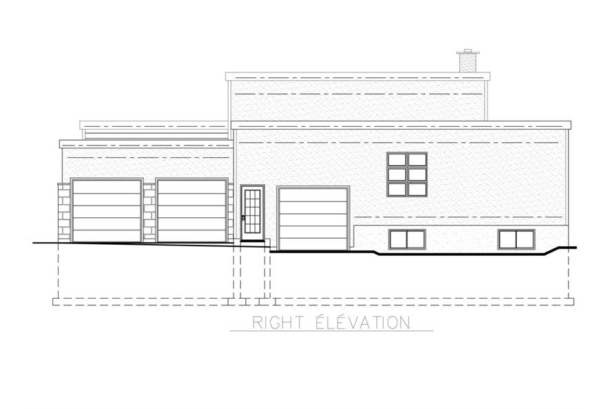 Home Plan Right Elevation of this 3-Bedroom,3216 Sq Ft Plan -158-1258