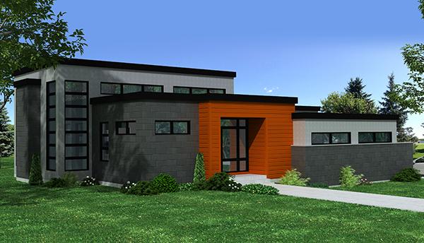 Contemporary Home Plan 3 Bedrms 2 5 Baths 3216 Sq Ft