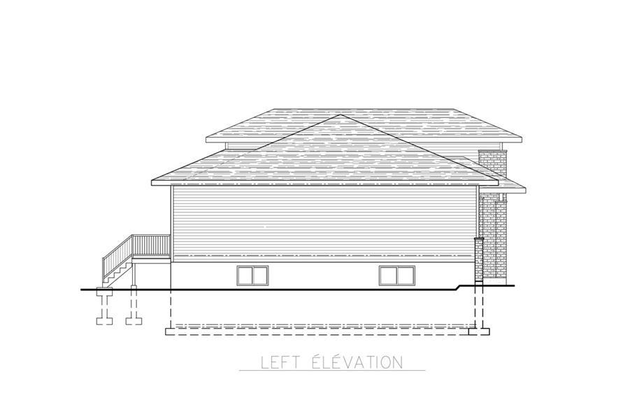 158-1259: Home Plan Left Elevation