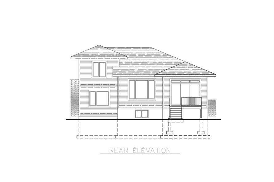 Home Plan Rear Elevation of this 3-Bedroom,1684 Sq Ft Plan -158-1259