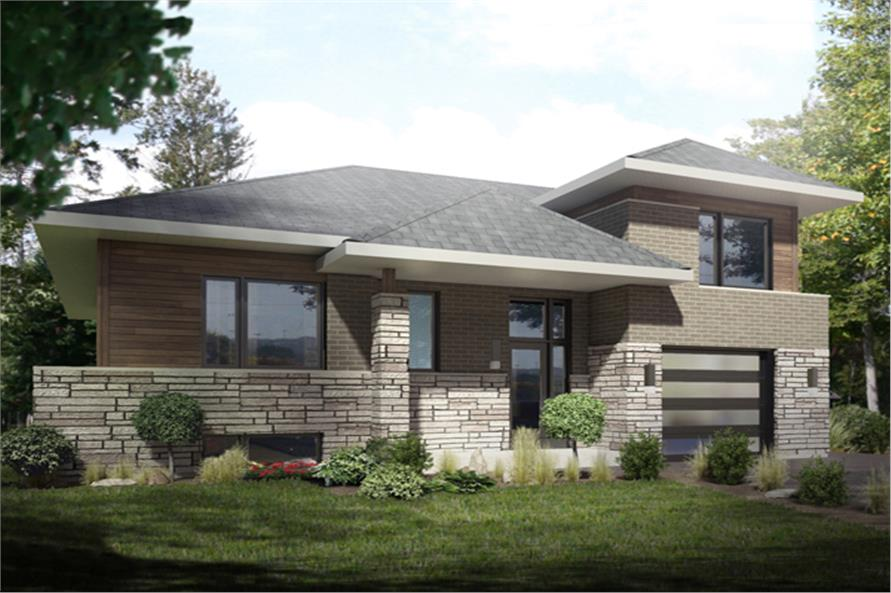 3-Bedroom, 1684 Sq Ft Bungalow House Plan - 158-1259 - Front Exterior
