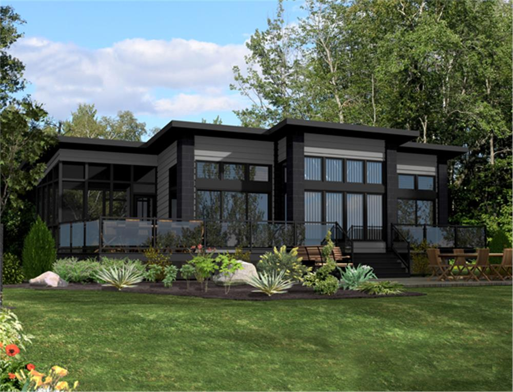 Large images for house plan 39 158 1260 for Theplancollection com modern house plans