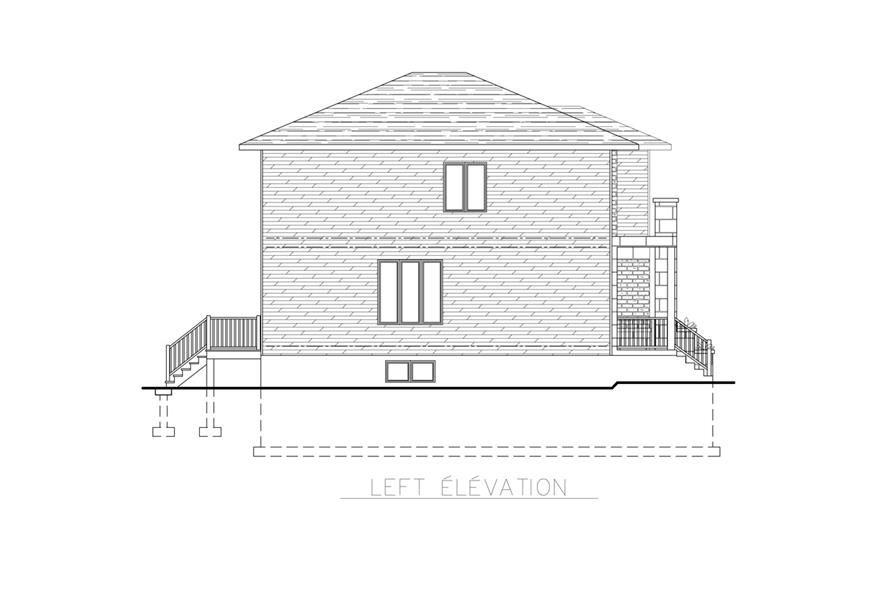 158-1262: Home Plan Left Elevation