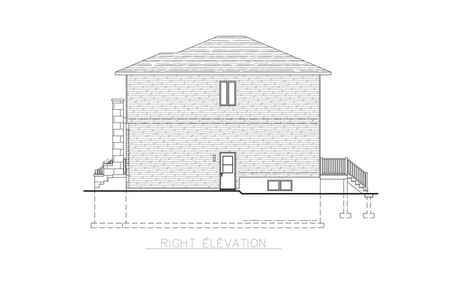 158-1262: Home Plan Right Elevation