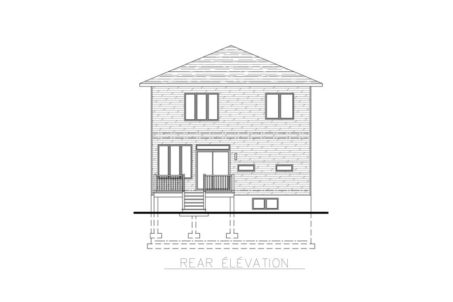 158-1262: Home Plan Rear Elevation