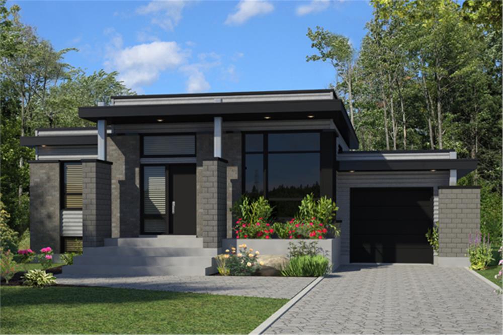 Contemporary home plan (ThePlanCollection: House Plan #158-1263)
