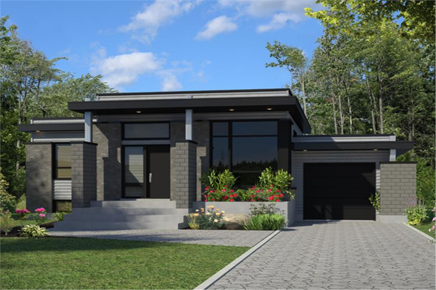 158 1263 · 3 bedroom 1268 sq ft contemporary house plan 158 1263 front