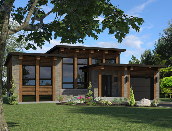 Contemporary House Plan 158 1264 2 Bedrm 1013 Sq Ft