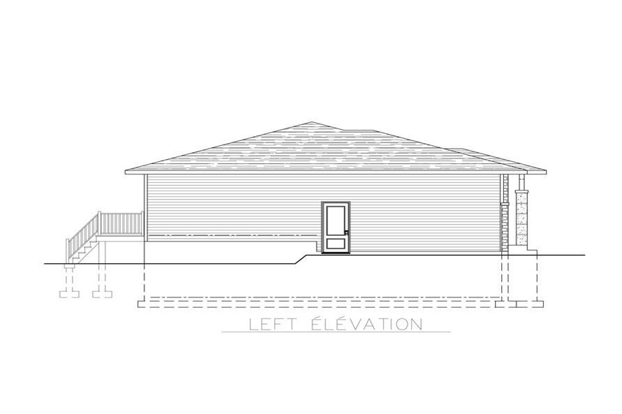158-1266: Home Plan Left Elevation