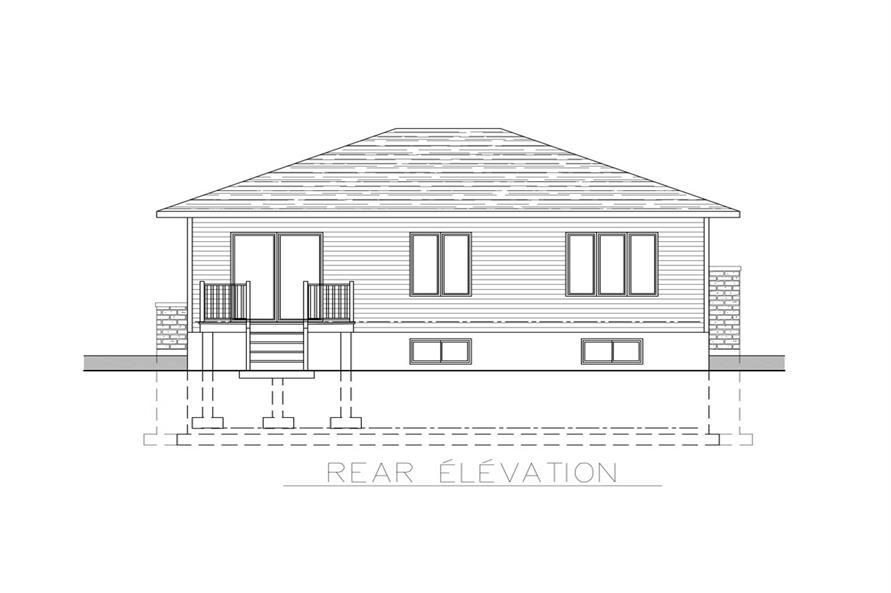158-1266: Home Plan Rear Elevation