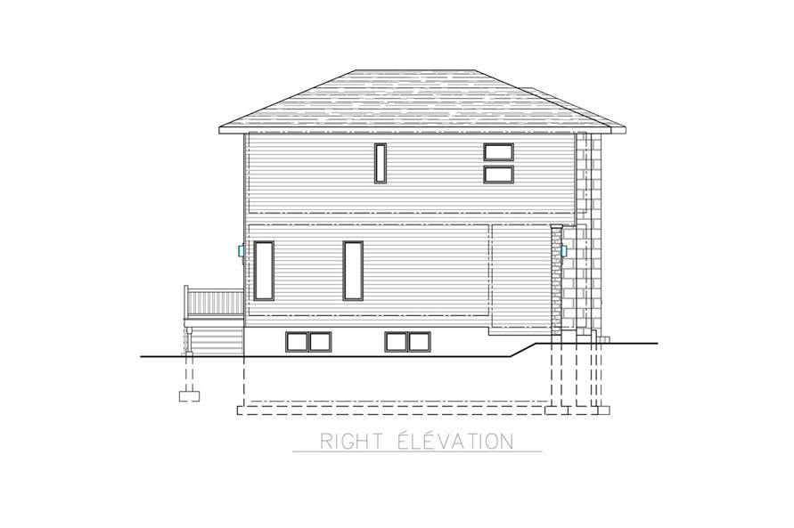 158-1266: Home Plan Right Elevation
