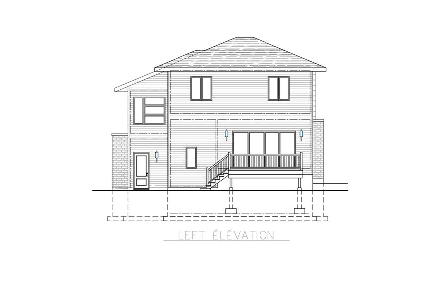 158-1266: Home Plan Left Elevation