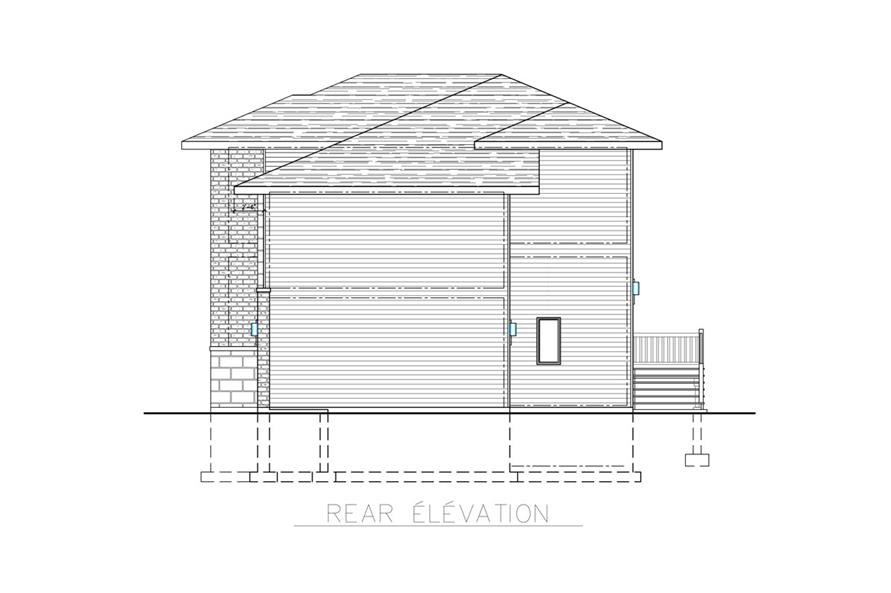 158-1266: Home Plan Rear Elevation