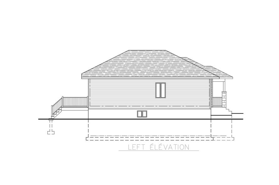 158-1267: Home Plan Left Elevation