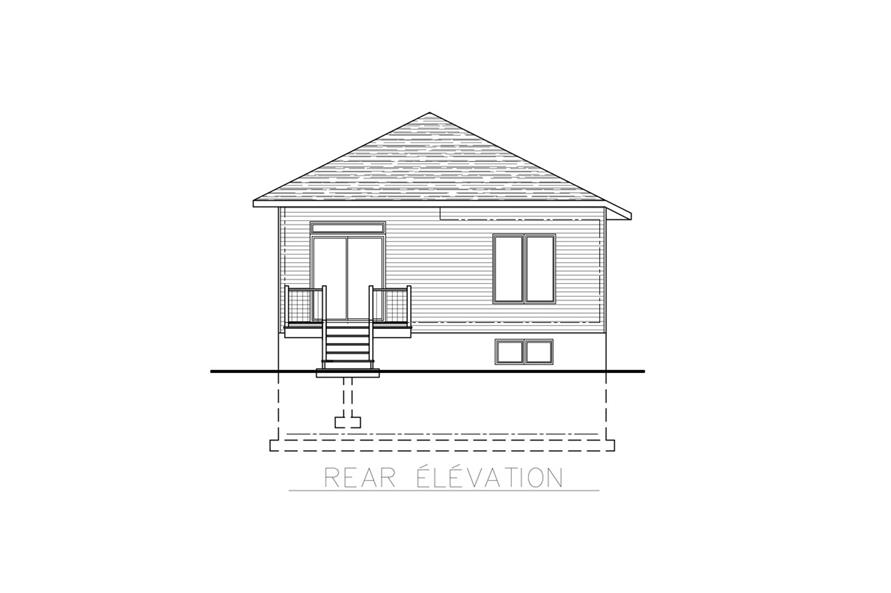 158-1267: Home Plan Rear Elevation