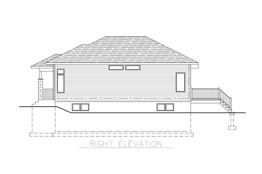158-1267: Home Plan Right Elevation