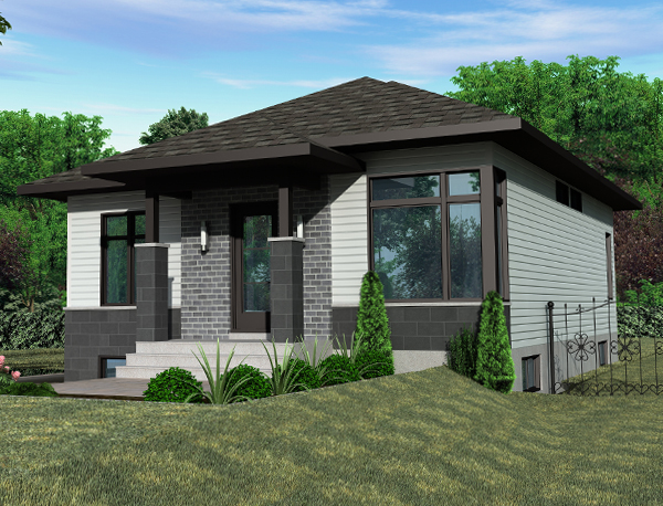Contemporary House Plan 158 1267 2 Bedrm 953 Sq Ft Home