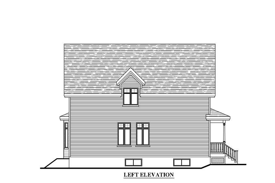 Home Plan Left Elevation of this 4-Bedroom,2707 Sq Ft Plan -158-1270