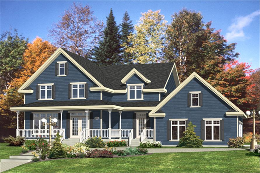 4-Bedroom, 2707 Sq Ft Country Home Plan - 158-1270 - Main Exterior