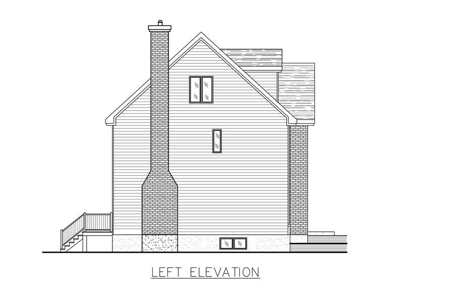 158-1271: Home Plan Left Elevation