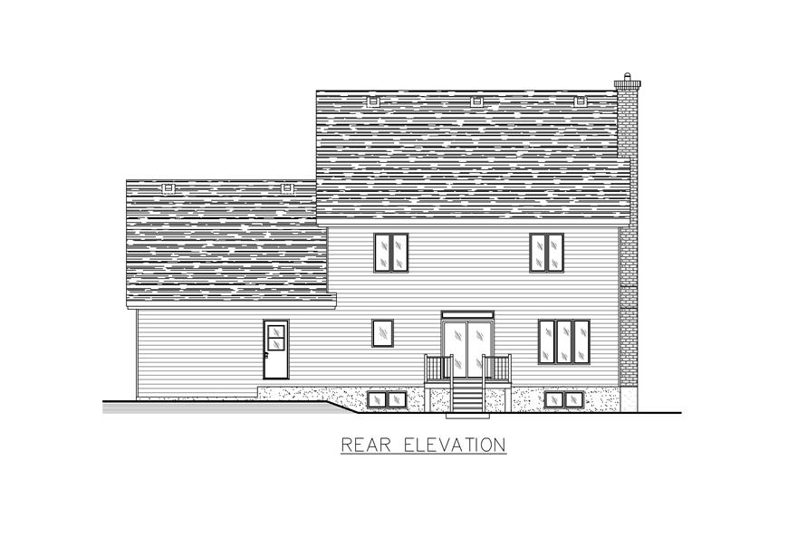 158-1271: Home Plan Rear Elevation