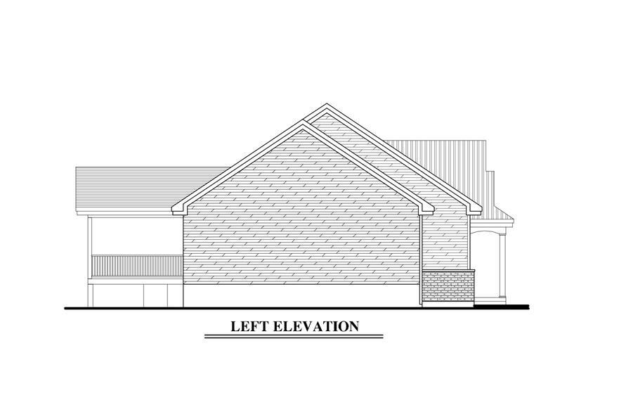158-1272: Home Plan Left Elevation