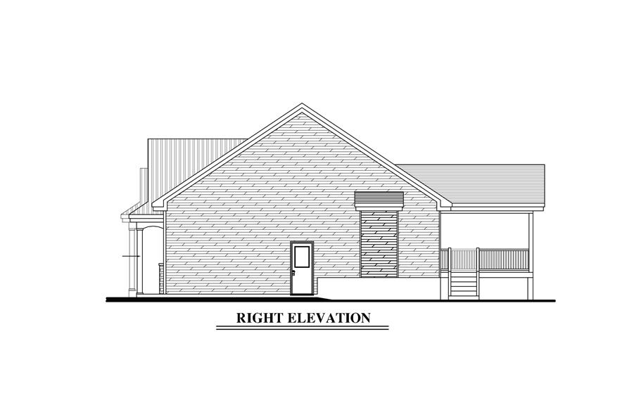 158-1272: Home Plan Right Elevation