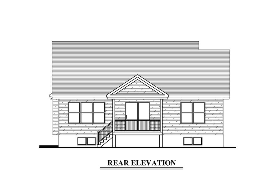 158-1272: Home Plan Rear Elevation
