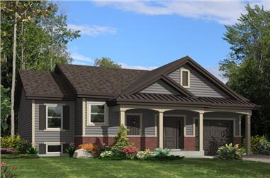 2-Bedroom, 1170 Sq Ft Traditional Home Plan - 158-1272 - Main Exterior