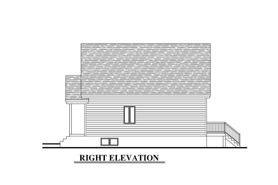 Home Plan Right Elevation of this 5-Bedroom,2130 Sq Ft Plan -158-1273