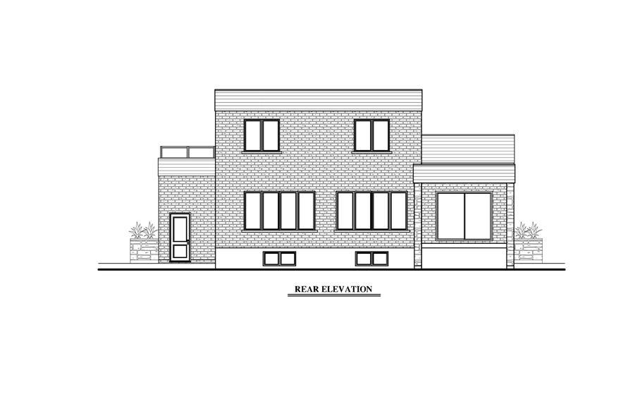158-1275: Home Plan Rear Elevation