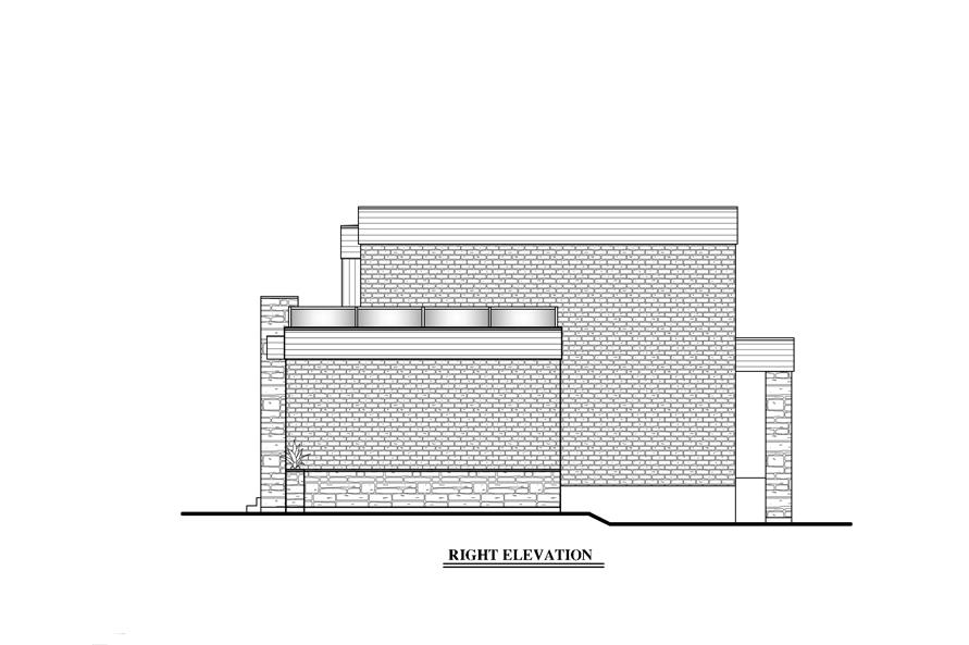 158-1275: Home Plan Right Elevation
