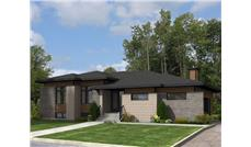 Front elevation of Contemporary home (ThePlanCollection: House Plan #158-1276)